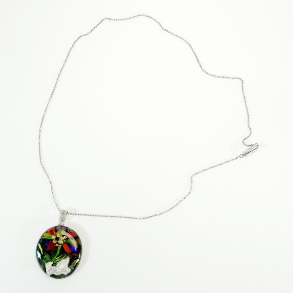 ネックレス「お花とダックス」0005