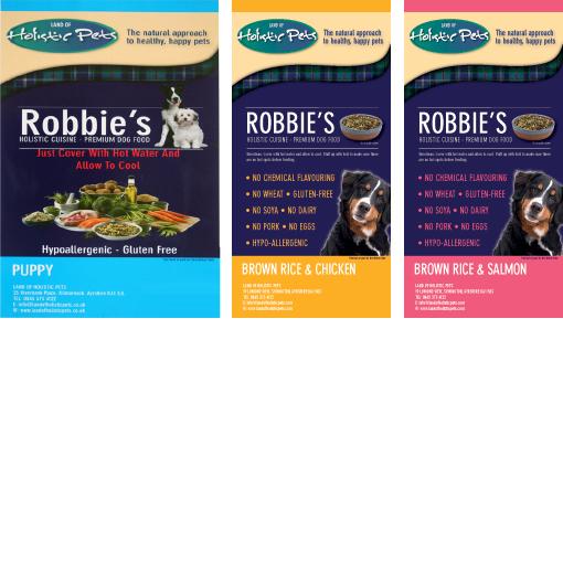 ロビーズ・パピー 2.5kg + 玄米&チキン 1kg + 玄米&サーモン 1kg