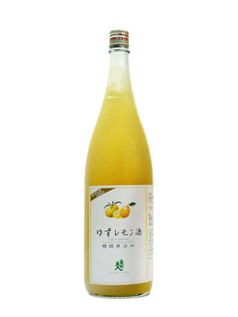 南部美人 糖類無添加「ゆずレモン酒」1800