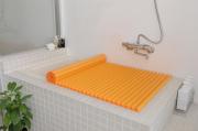 【送料無料】東プレ カラーイージーウェーブ抗菌風呂ふた M14 オレンジ 70×140cm用