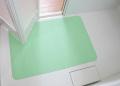 【送料無料】入浴中も安全!お風呂洗い場マット 60cm×90cm グリーン