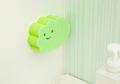 【日本製】お風呂掃除も可愛く!貼りつくバスクリーナー グリーン