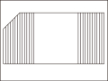【送料無料】変形巻きふた左上45度カット 74×145.8cm
