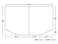 【送料無料】変形組み合わせ風呂ふた 935mm×1596mm 2枚割