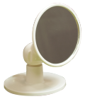 【シャワーフックに差し込むだけ!鏡の向きが自由に!】ユニバーサルミラー ショート(スタンド付き)