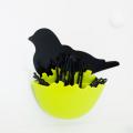 【水濡れOK!動物モチーフの貼ってはがせる吸着シート!かわいい洗面収納♪】貼り付くトリの巣のヘアピンホルダー