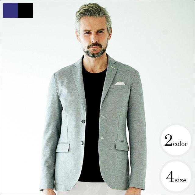 [SALE] G-stage(ジーステージ) 【日本製生地使用】コットンオックスジャージジャケット グレー サックス 160252