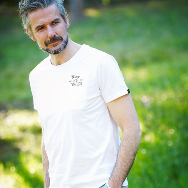 G-stage(ジーステージ) オリジナルロゴプリントTシャツ ホワイト グレー 161562
