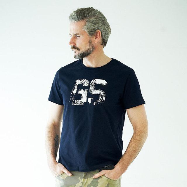 G-stage(ジーステージ) オリジナルロゴフロントプリントTシャツ ホワイト ネイビー 161563