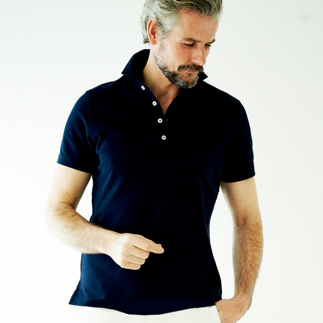 [WEB限定SALE]G-stage(ジーステージ) 日本製クールマックス鹿の子半袖ポロシャツ  551572父の日 ギフト ポロシャツ