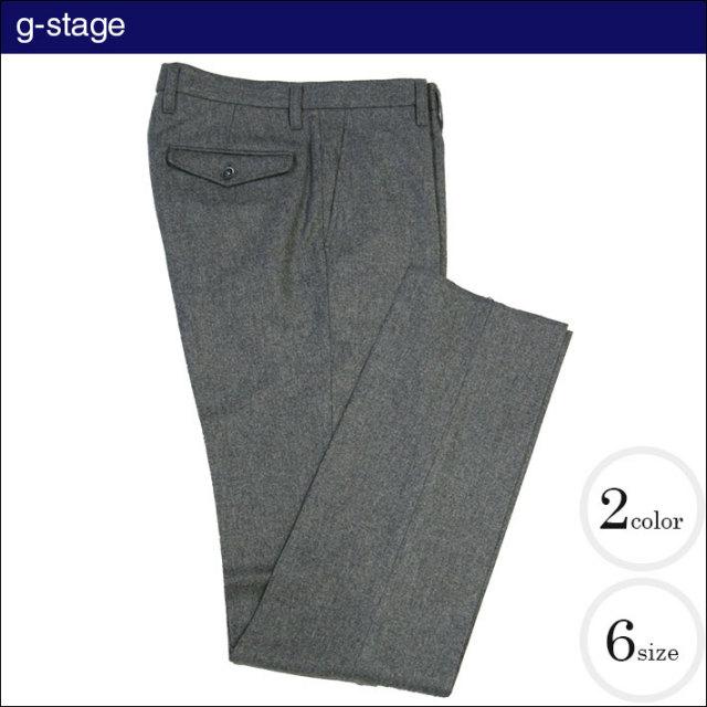 g-stage(ジーステージ) イタリア製生地ノータックウール美脚パンツ 640551