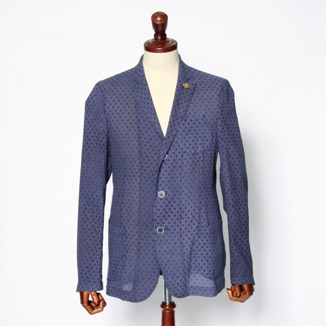 LARDINI(ラルディーニ) コットンガーゼドット3Bシャツジャケット ptr44569