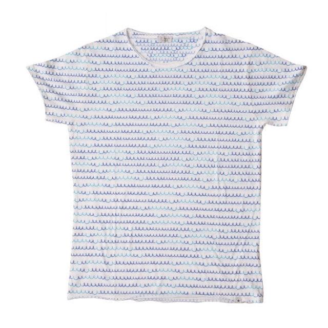 ウェーブモチーフコットンポリTシャツ Tシャツ カットソー メンズ 綿 T60417E7 fiver(ファイバー)