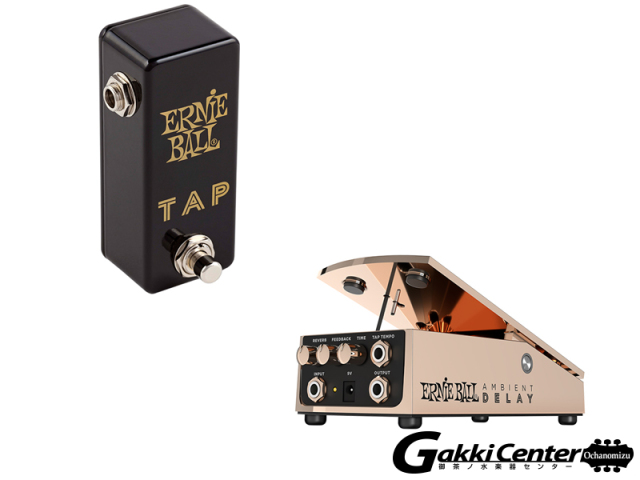【SALE】ERNiE BALL #6184 AMBIENT DELAY + ERNiE BALL #6186 Tap Tempo set【店頭在庫品】