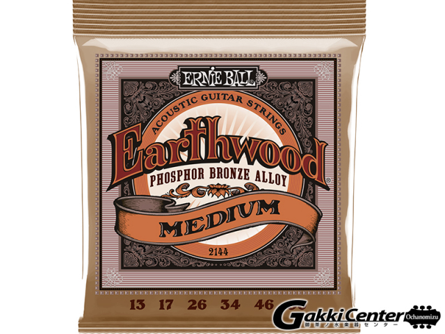 【限定特価!】ERNiE BALL Earthwood Acoustic Phosphor Bronze Medium [#2144] 【店頭在庫品】