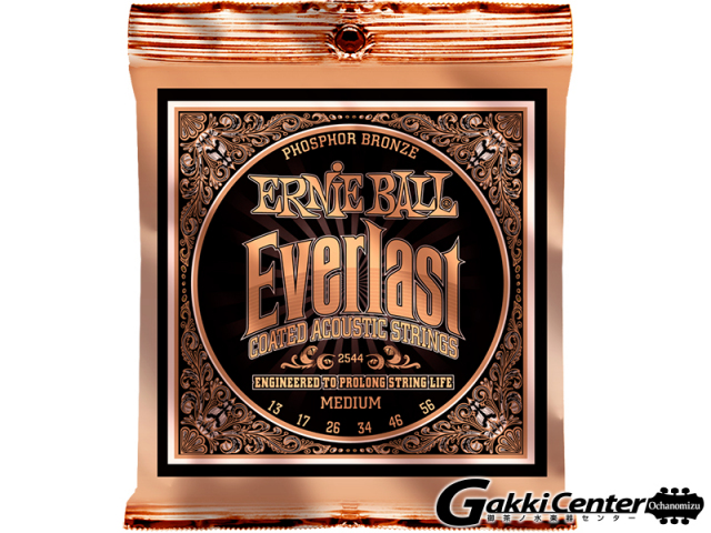 ERNiE BALL Everlast Coated Phosphor Bronze Acoustic Medium  [#2544] 【店頭在庫品】