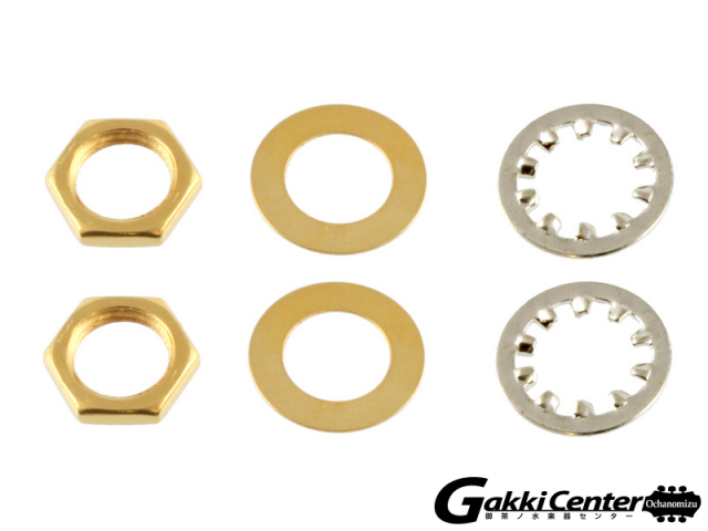 Allparts Gold Nuts and Washers for USA Pots and Jacks【店頭在庫品】