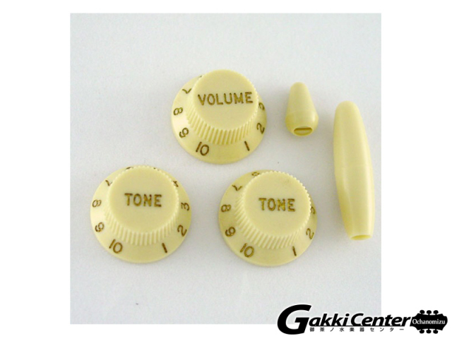 Allparts Vintage Cream Knob Set for Stratocaster®【店頭在庫品】