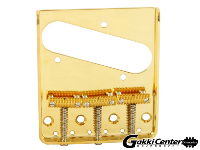 Allparts Gold Vintage 3 Saddle Bridge for Telecaster®【店頭在庫品】