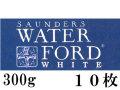 ウォーターフォードホワイト水彩紙<中厚口>300g (560×760mm) 10枚組[細目・中目・荒目]