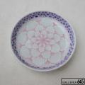 花弁にブルー桜5寸深皿:津上是隆:015110