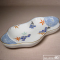 色絵紅葉青海波文豆型皿:有田製窯【送料無料】:030013