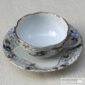 色絵瑞鶴若松文紅茶碗皿:有田製窯【送料無料】:030022