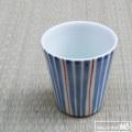 フリーカップ(大)線引赤:大日窯:034051
