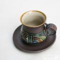 銀河紋コーヒーカップ&ソーサー:與 宏文:041001
