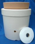 発泡スチロール鉢 9号+素焼鉢+給水テープ 水冷鉢 二重鉢