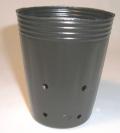 側面穴付ポリポット深鉢 7.5cm 黒 100個