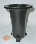 京楽焼植木鉢 4.5号 春蘭用 寒蘭用 サナ付き 澤作