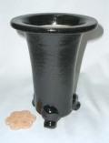 京楽焼植木鉢 5.0号 春蘭用 寒蘭用 サナ付き 澤作