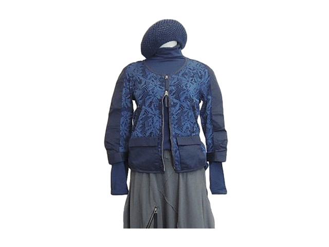 【ジルボー】レディースSサイズ☆ジャスト感と透け感を楽しむシルク混ジャケット40%OFF