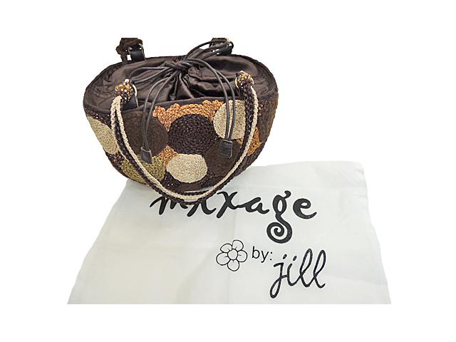 【mixage レディース】☆冬の大人可愛い楕円形かごバッグ♪松ぼっくりアート20%OFF