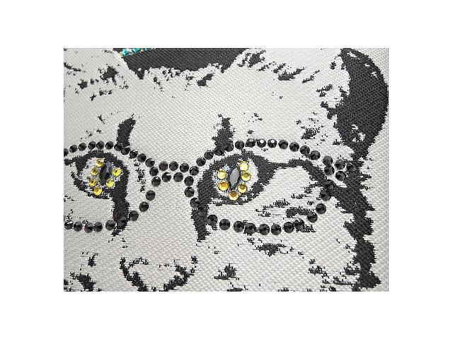 【SOAR SOLe】レディース◇スワロフスキーをあしらった猫♪ジャガード織りトートバッグが新登場22%OFF