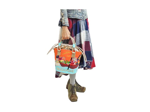 【Braccialini】レディース◇南国イメージのオシャレで可愛いミニトートバッグ 新登場30%OFF
