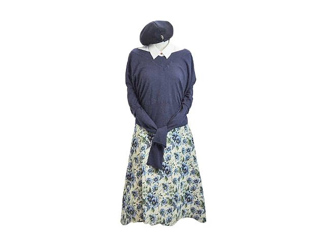 """【FADレディース】S~Mサイズ☆春一番☆""""フィッシュテールゴブラン織スカート""""30%OFF"""