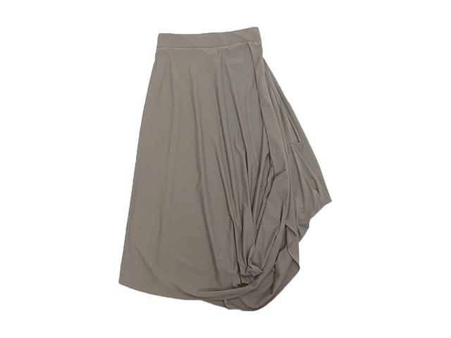 【obliqueレディス】1サイズ☆L~LLサイズの感覚♪ドレープが綺麗なロングスカート☆40%OFF