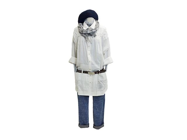 【ジルボーレディース】Mサイズ☆ゆるいシルエットで軽く羽織るシャツジャケ!!!50%OFF
