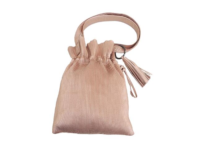 【FADselect】レディース◇今持ちたいピンクゴールド巾着バッグ♪和服、洋服のポイントに♪30%OFF