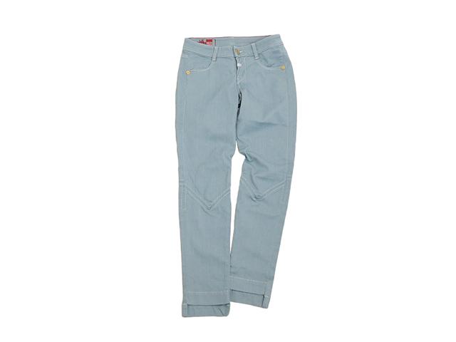 【ジルボー】メンズ29インチ◇日本のスッキリS感覚 膝、裾にポイント☆スカイブルースキニーデニム♪50%OFF