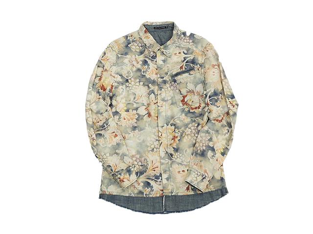 【ジルボーメンズ】Mサイズライセンス☆ボタニカルプリントシャツ、インパクト◎◎50%OFF♪