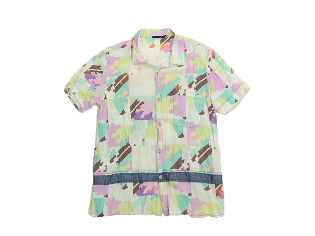 【ジルボーメンズ】Mサイズライセンス☆万華鏡プリント半袖シャツ、インパクト◎◎50%OFF♪
