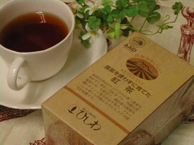 鮮やかな赤色とフレッシュな香りの【農薬を使わずに育てた紅茶(ティーバッグ)】