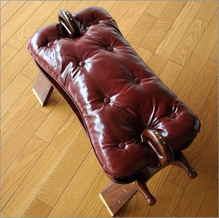 クッションチェアー 椅子 デザインチェア スツール ベンチ モダン アジアン家具 腰掛け キャメルチェアー【送料無料】