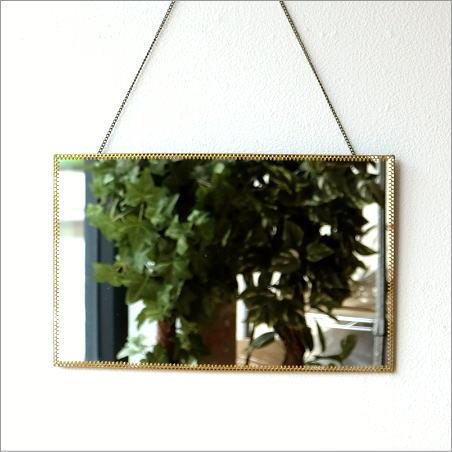壁掛け鏡 真鍮レースのウォールミラー