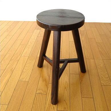 スツール 木製 天然木 丸椅子 デザイン アジアン家具 トライアングルスツール