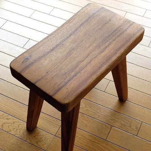 スツール 木製 椅子 チェア 天然木 アジアン家具 ウッドスツール カーブ【送料無料】