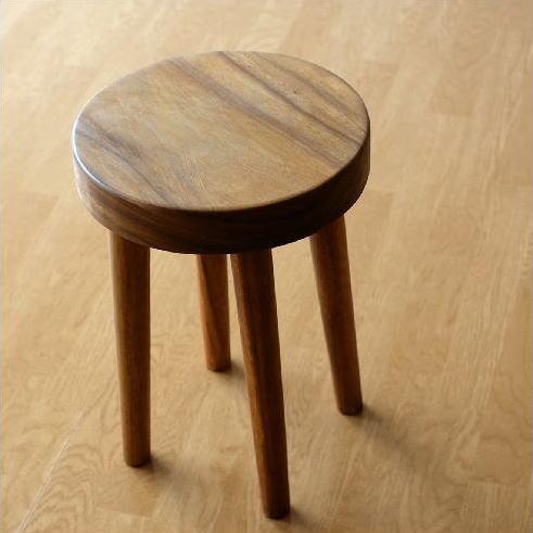 スツール 木製 丸椅子 天然木 アジアン家具 ウッドスツール サークル【送料無料】